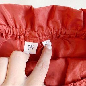 GAP Skirts - GAP Orange Drawstring Skirt with Pockets S NWT